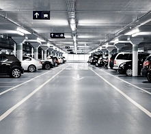 Indoor motor-car parkings, parking lots, and garages (carbon monoxide)
